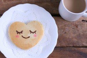ハートのパンケーキ