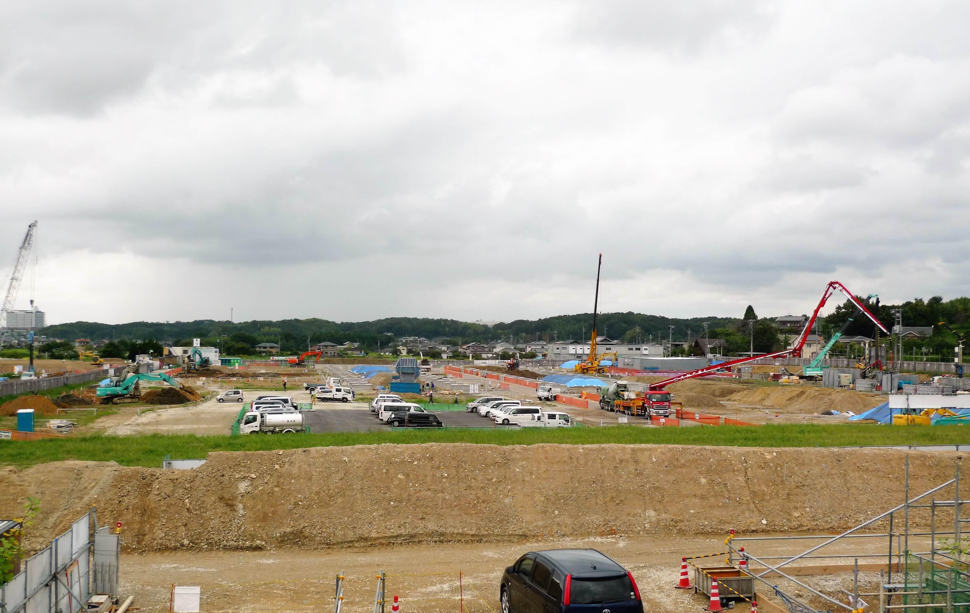 IKEA長久手 建設現場9月