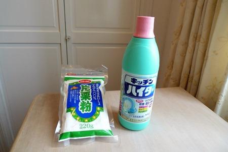 お風呂のカビ取り漂白剤と片栗粉