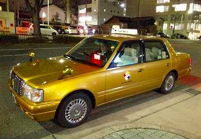 名古屋の金色のタクシー