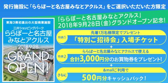 三井ショッピングパークカードで特別招待券をゲット