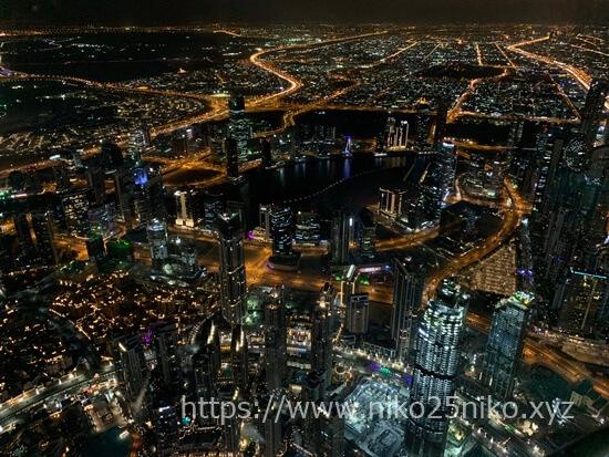 ブルジュ・ハリファ 、 バージ・カリファの夜景が綺麗に見える