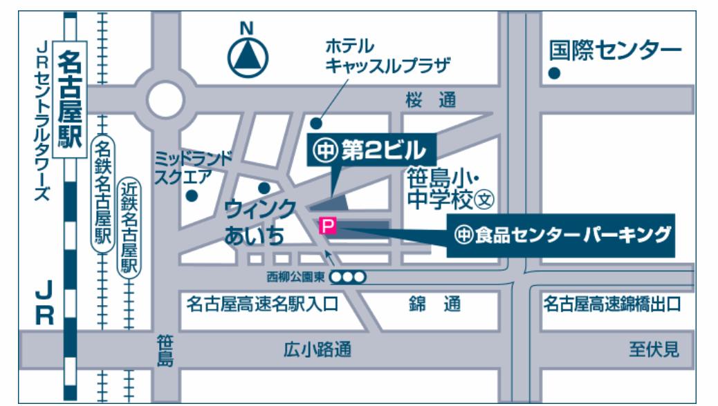 柳橋中央卸売市場のマルナカパーキングへのアクセス地図