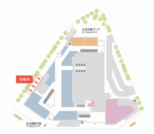 大名古屋ビルの駐輪場の場所と地図