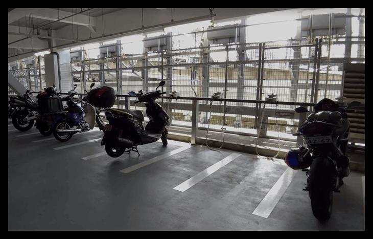 JPタワー名古屋のバイクの駐車場の利用料金
