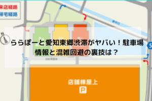 ららぽーと愛知東郷渋滞回避方法