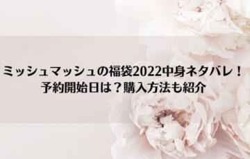 ミッシュマッシュの福袋2022中身ネタバレ!