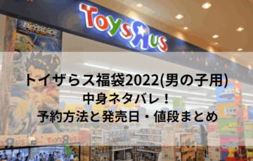 トイザらス福袋2022(男の子用) 中身ネタバレ!予約方法と発売日・値段まとめ
