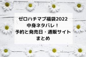 ゼロハチマブ(08Mab)福袋2022中身ネタバレ!予約と発売日・販売店通販サイトまとめ