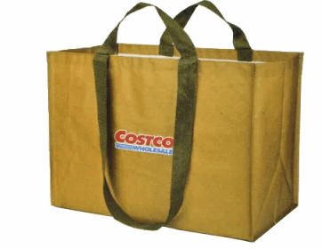 トートバッグ型のコストコショッピングバッグ