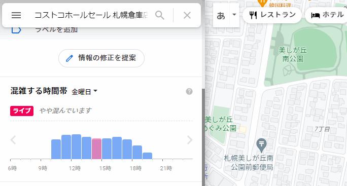 コストコ札幌倉庫店の今の混雑状況をツイッターで確認する