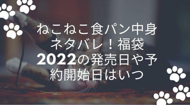 ねこねこ食パン中身ネタバレ!福袋2022の発売日や予約開始日はいつ